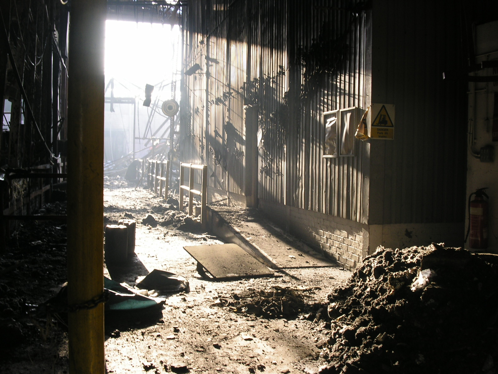 Greenall Distillery Destroyed by Fire