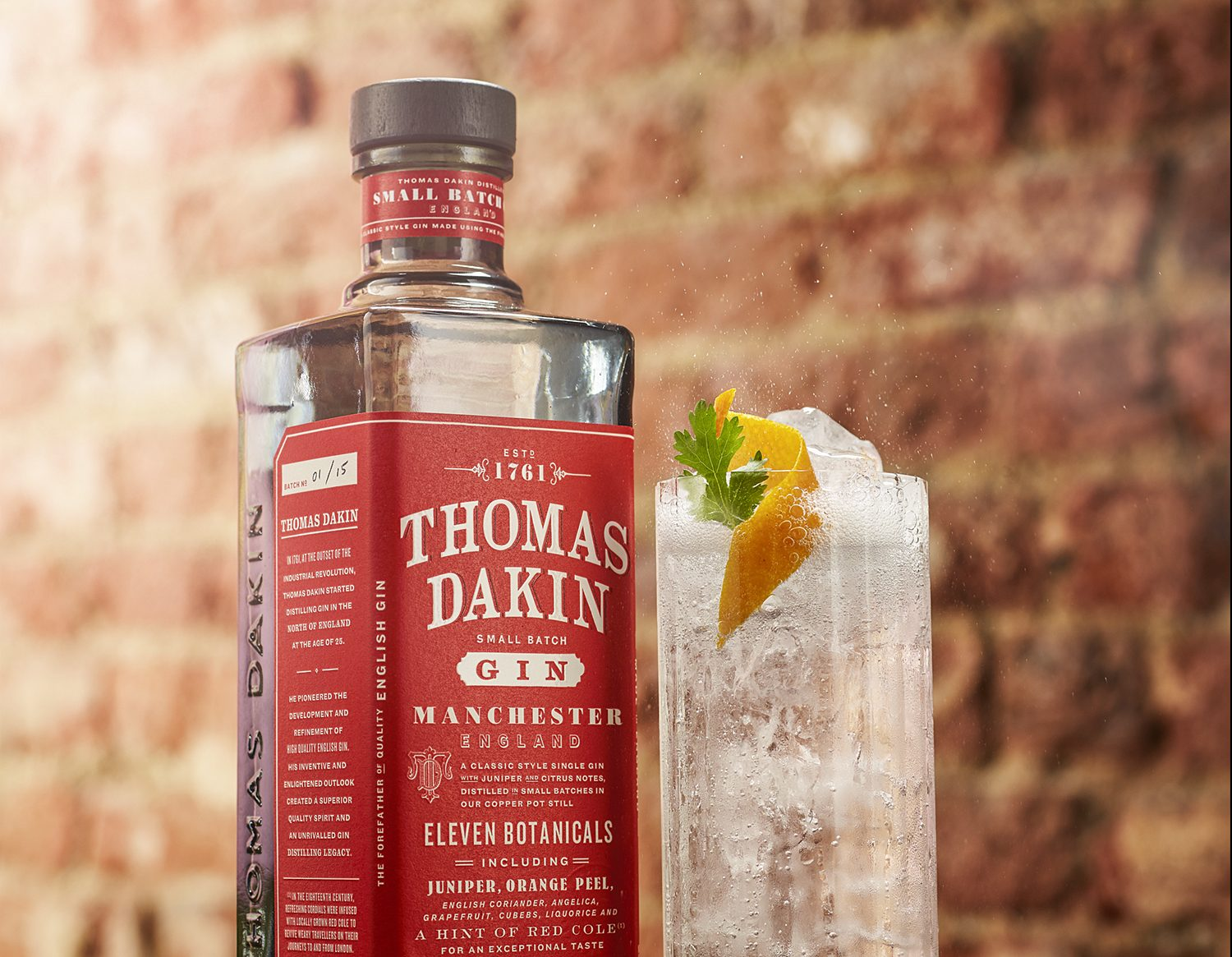 Thomas Dakin honoured with new small-batch gin
